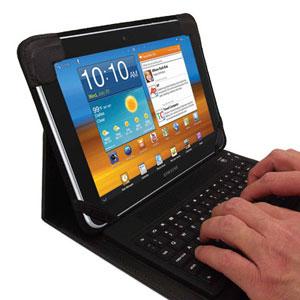 Funda con teclado Bluetooth incorporado KeyCase para Samsung Galaxy Tab 10.1