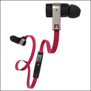Novero Rockaway Stereo Bluetooth Headset - Black/Red