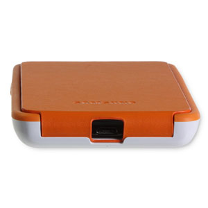 Genuine Samsung Galaxy S2 Flip Cover - Orange/White