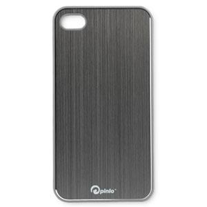 Coque iPhone 4S / 4 Pinlo Concize Metal - Grise (arrière)