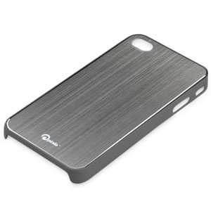 Coque iPhone 4S / 4 Pinlo Concize Metal - Grise (dos)