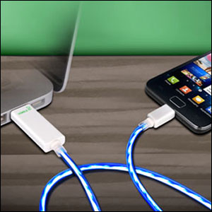 Dexim Visible Green Cable For Micro USB Devices