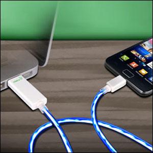 Chargeur micro-USB Dexim Visible - Bleu (général)