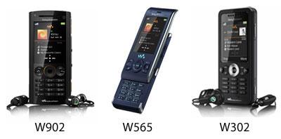 Sony Ericsson W902, W565, W302