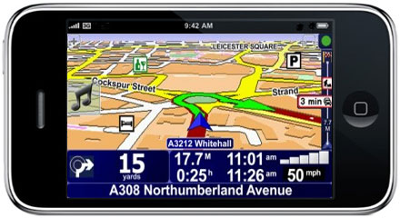 Sat Nav on iPhone