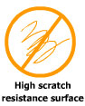 High scratch resistant surface
