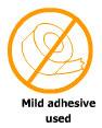 Mild adhesive used
