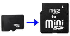 TransFlash Card Adapter (MicroSD to miniSD)