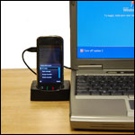 The cradle allows you to sync your Nokia N97 with your P.C