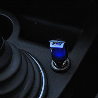Soft blue LED indicator light