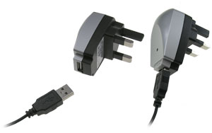 USB Mains Charger Adaptor