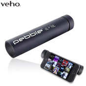 Veho Pebble Aria 3,500mAh Portable Charger & Speaker - Black