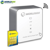 WorldSIM Tri-Fi Power Bank and WiFi Router With £20 Data Credit