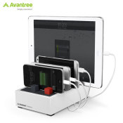 Avantree PowerHouse Plus High Power Desk USB Charging Station - White