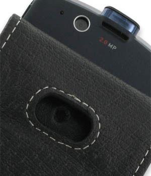 PDair Leather Flip Case - Motorola ROKR E8