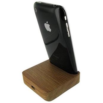 iPhone 3GS / 3G Teak USB Cradle