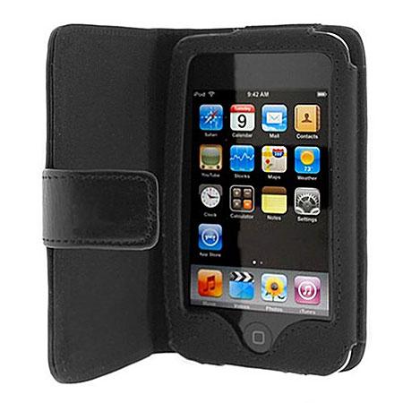 ipod touch 2g leather wallet case black. Black Bedroom Furniture Sets. Home Design Ideas