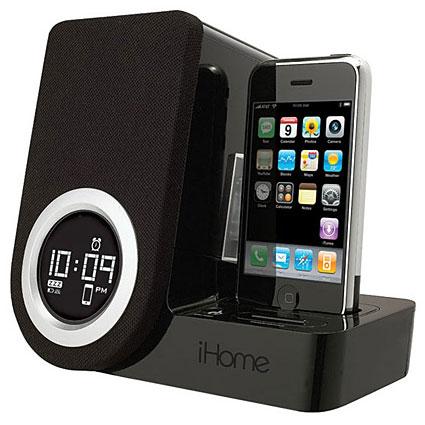 ihome ip41 iphone 3gs 3g dockingstation mit integriertem lautsprecher mobilefun schweiz. Black Bedroom Furniture Sets. Home Design Ideas