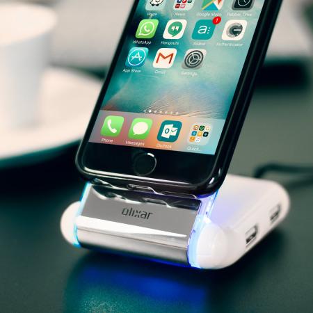 Supporto caricabatterie da tavolo anti-scivolo Desk Genie