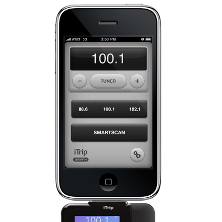 fm transmitter app iphone griffin itrip iphone fm transmitter with app support 5802