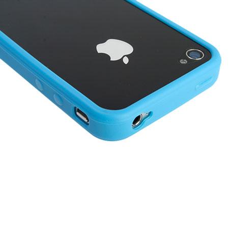 newest 49c88 69301 iPhone 4 Rubber Bumper - Blue