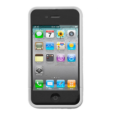 Hard Candy Bubble Slider For iPhone 4 - White