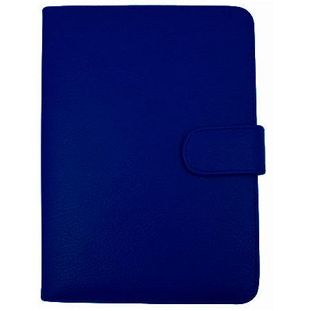 Leather Style Book Case for Amazon Kindle Keyboard - Blue