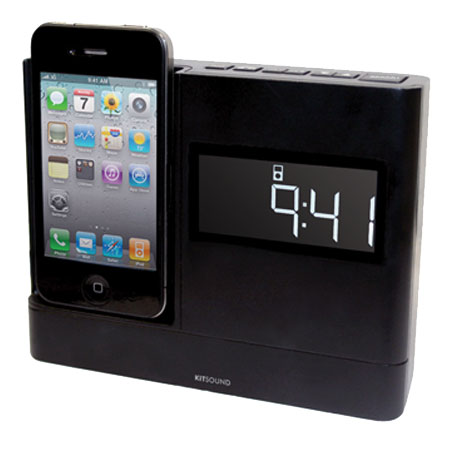 kitsound xdock iphone 4s ipod clock radio dock. Black Bedroom Furniture Sets. Home Design Ideas