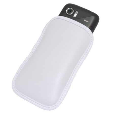 HTC PO S491 Mozart Standard Leather Pouch - White
