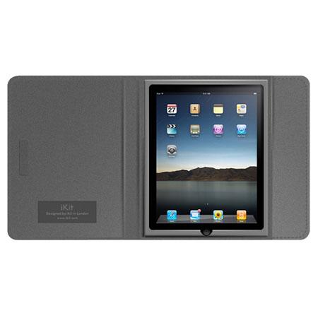 iKit Leather Folio Case for iPad 4 / 3 / 2 - Grey