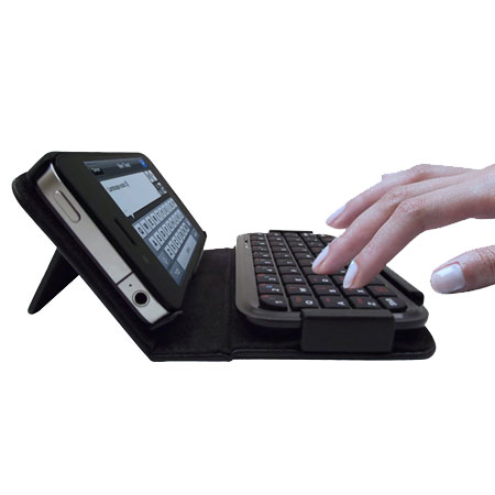 TypeTop Bluetooth Mini Keyboard Case for iPhone 4