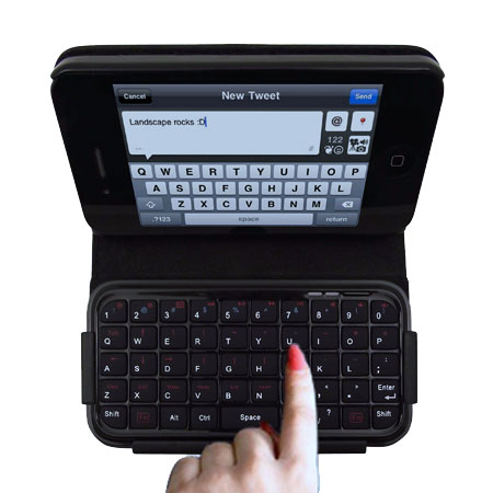 TypeTop Bluetooth Mini Keyboard Case for iPhone 4 - QWERTZ