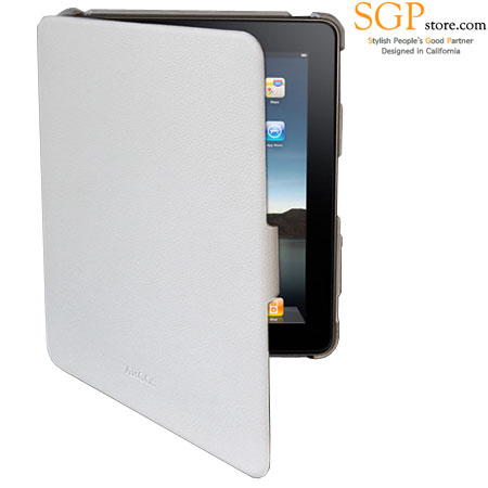 the latest a03b7 019ec SGP Argos Series Leather Case for iPad - White