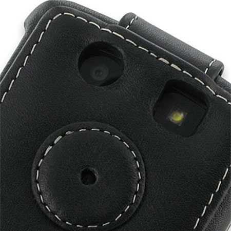 PDair Leather Flip Case For Blackberry Torch 9800