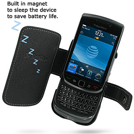 PDair Leather Book Case - Blackberry Torch 9800