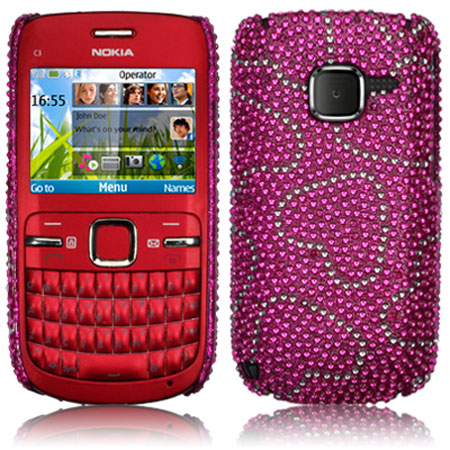 coque nokia c3 diamante love hearts. Black Bedroom Furniture Sets. Home Design Ideas