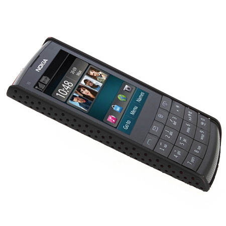 perforated case for nokia x3 02 touch and type black. Black Bedroom Furniture Sets. Home Design Ideas