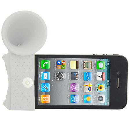 iPhone 4 Horn Desk Stand - White