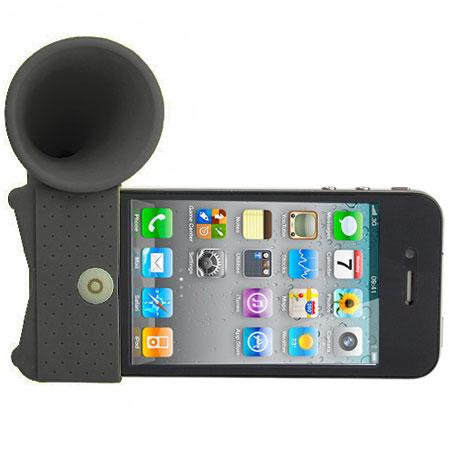 iPhone 4 Horn Desk Stand - Black