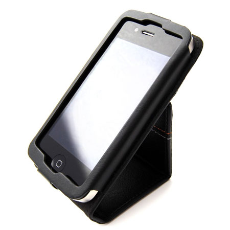 detailed pictures 1d46c 06f17 Tech21 d3o iFlip Leather Case for iPhone 4S / 4