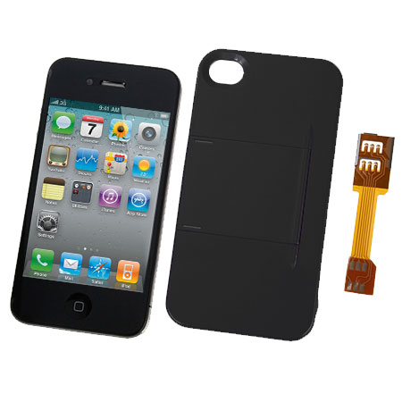 micro sim adapter and stand case for iphone 4s 4. Black Bedroom Furniture Sets. Home Design Ideas