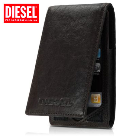 new style 37722 c7228 Diesel Welton Leather Flip Case for iPhone 4 and 3GS - Seal Brown