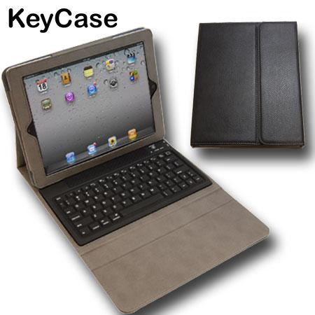 Funda iPad 4 / 3 / 2 con Teclado Bluetooth KeyKase Folio Deluxe - Negra