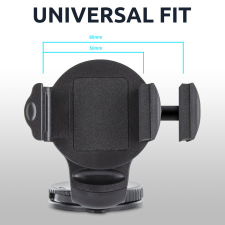 Olixar OmniHolder Universal Case Compatible Phone Car Holder Mount