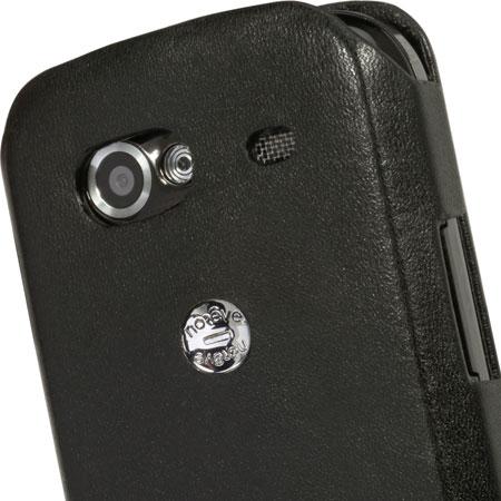 Housse cuir Google Nexus S Noreve Tradition A - Noire