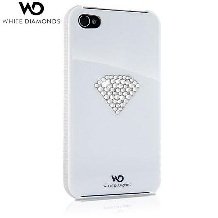 White Diamonds Crystal Case for iPhone 4S / 4 - Rainbow White