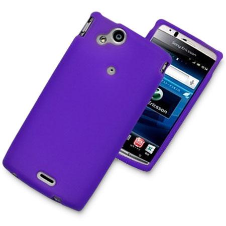 Silicone Case For Sony Ericsson Xperia arc S / arc - Purple