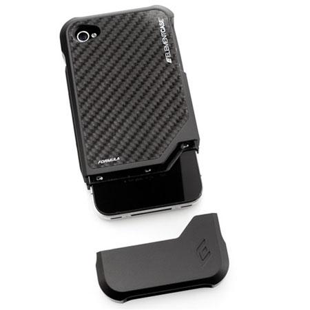 ElementCASE Formula 4 Case for iPhone 4S / 4 - Black with Carbon Fibre Back