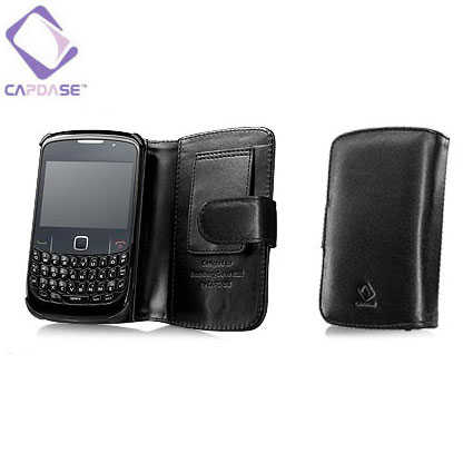 capdase classic leather book cover blackberry curve 8520