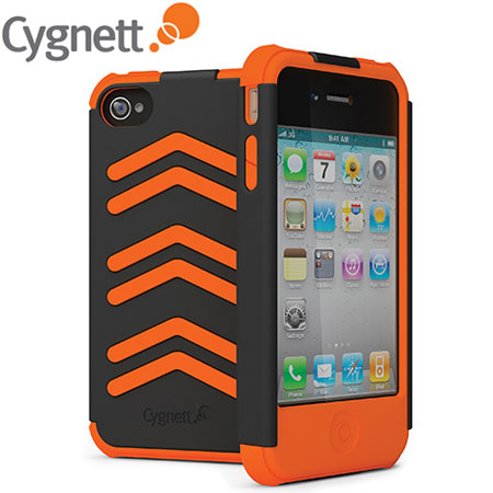 Coque iPhone 4S / 4 Cygnett WorkMate Pro - Grise / Orange